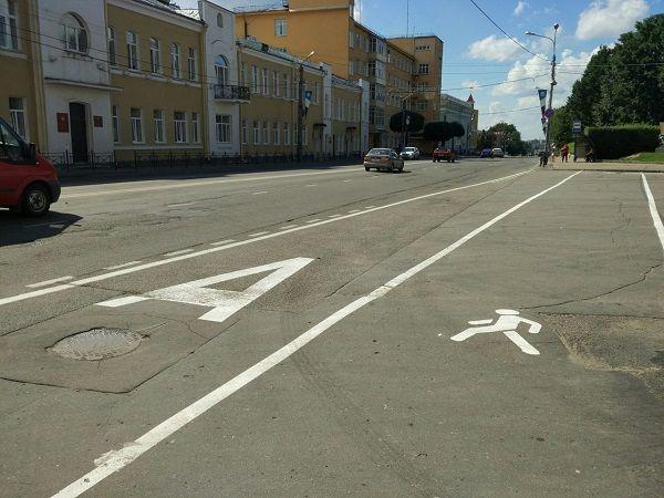В Смоленске нарисовали остановку для автобусов