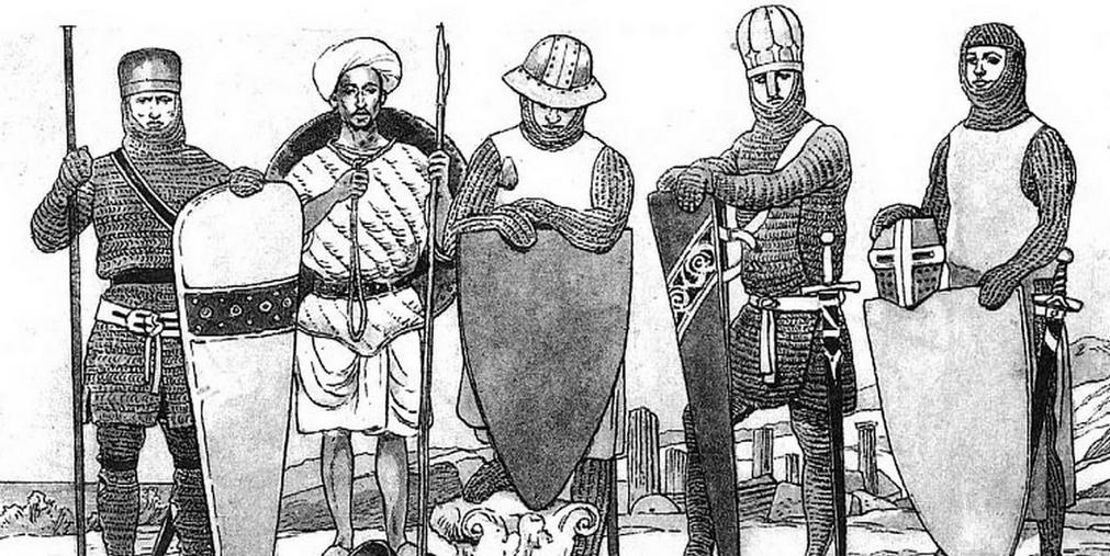Парад средневековых щитов