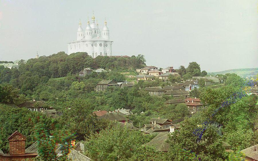 Смоленск. Успенский собор с востока. 1912 год