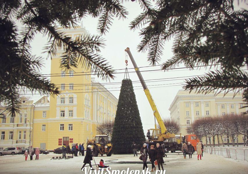 Церемония открытия главной городской ёлки Смоленск