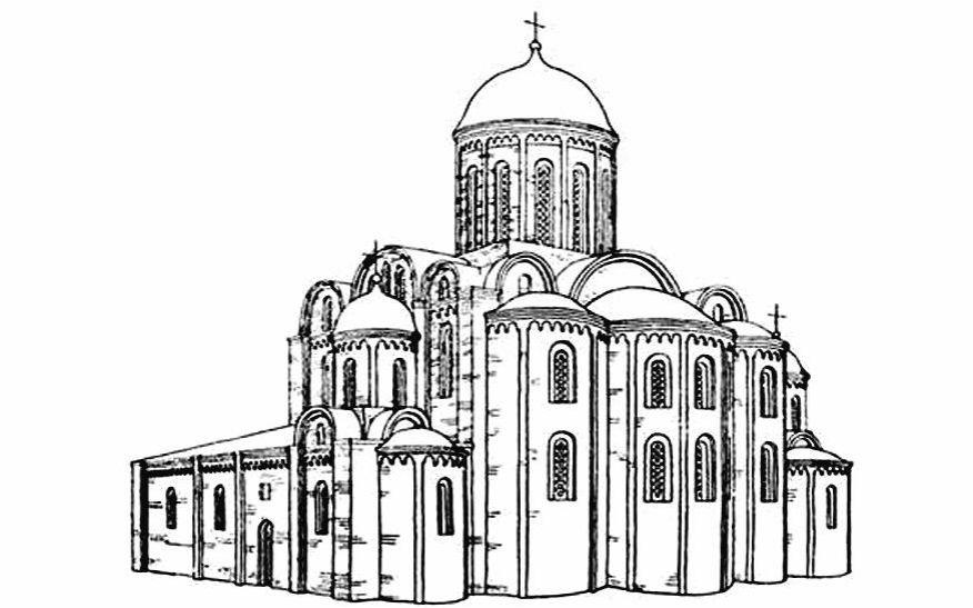 Церковь между 1160 и 1180 гг. Реконструкция