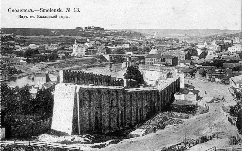 Часть стены, разобранная в 1930-е годы