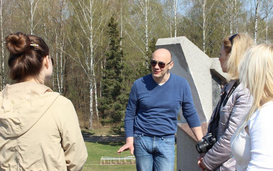 На Кургане Бессмертия в парке Реадовка в Смоленске