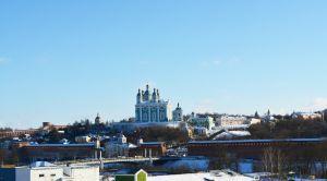 Вид на Смоленске со смотровой площадки панорамного