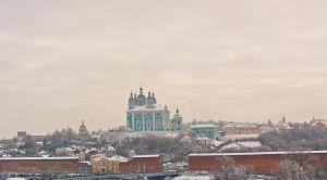 Зимний вид из панорамного кафе «Ангара» в Смоленск