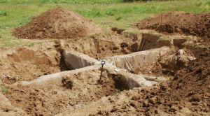 Раскопки в курганном комплексе