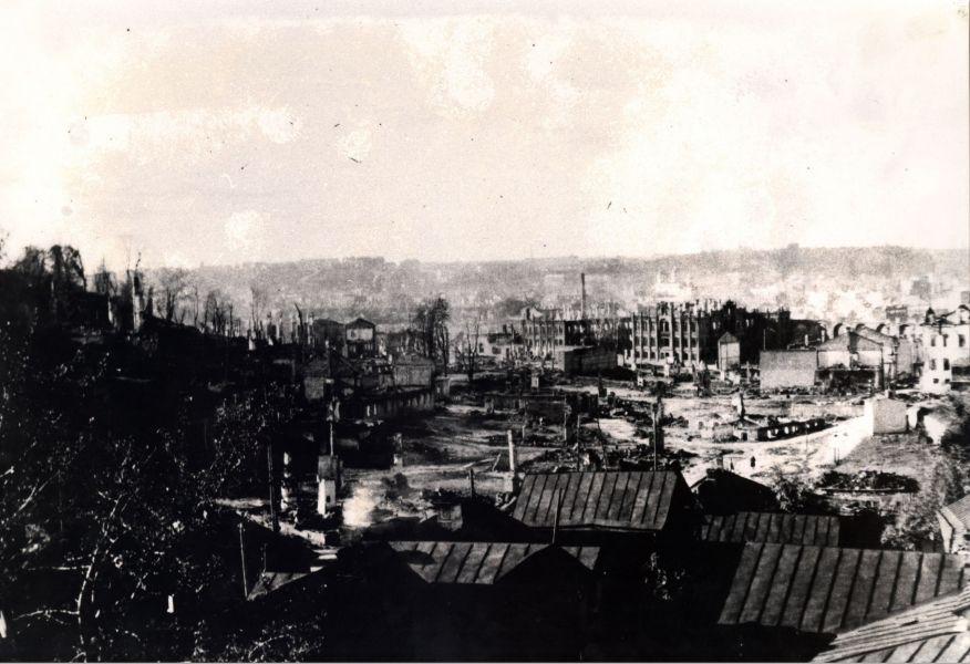 Панорама разрушенного Смоленска